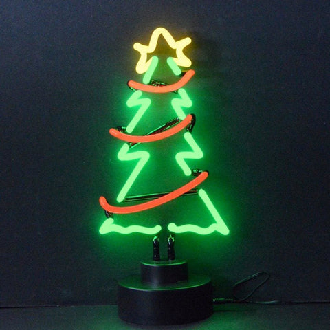 Neonetics Christmas Tree With Garland Neon Sculpture 4Xmasg Neon Signs