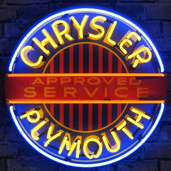 Neonetics Chrysler Plymouth Neon Sign With Backing 5Crypl Neon Signs
