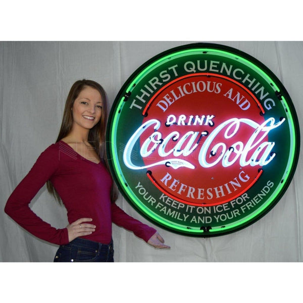 Neonetics Coca-Cola Evergreen 36 Inch Neon Sign In Metal Can 9Ccgrn Neon Signs