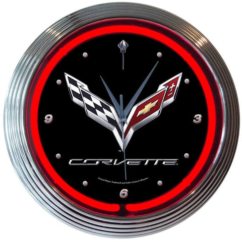 Neonetics Corvette C7 Neon Clock 8Corv7 Neon Signs