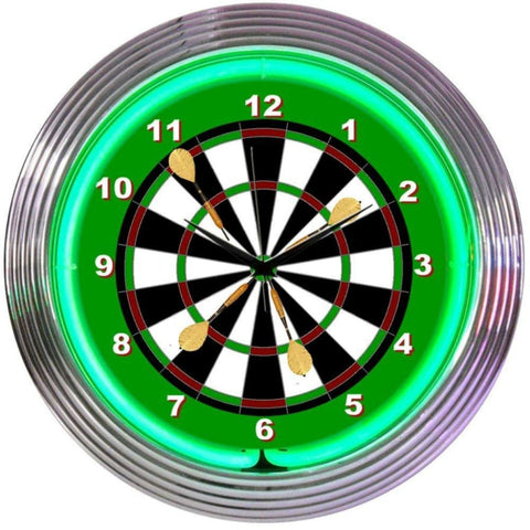 Neonetics Darts Neon Clock 8Dartc Neon Signs
