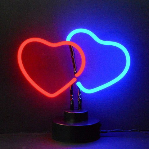 Neonetics Double Hearts Neon Sculpture 4Heart Neon Signs