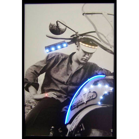 Neonetics Elvis On Motorcycle Neon/led Picture 3Elvis Neon Signs