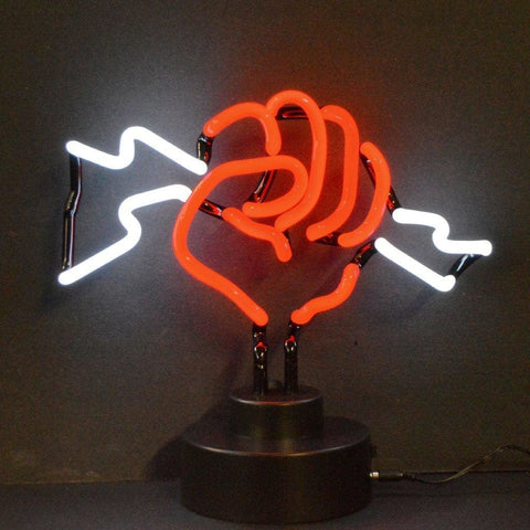 Neonetics Fist With Lightning Neon Sculpture 4Fistx Neon Signs