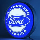 Neonetics Ford Authorized Service 15 Inch Backlit Led Lighted Sign 7Fords Neon Signs