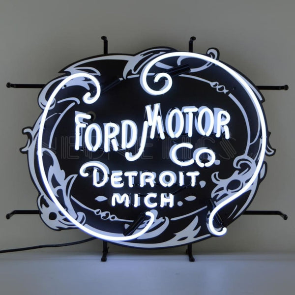 Neonetics Ford Motor Company 1903 Heritage Emblem Neon Sign 5Frdmc Neon Signs
