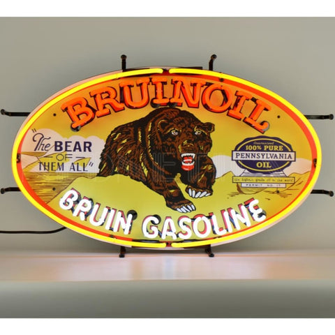 Neonetics Gas - Bruinoil Bruin Gasoline Neon Sign 5Gsbrn Neon Signs