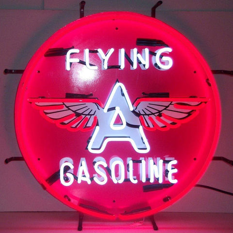 Neonetics Gas - Flying A Gasoline Neon Sign 5Gsfly Neon Signs