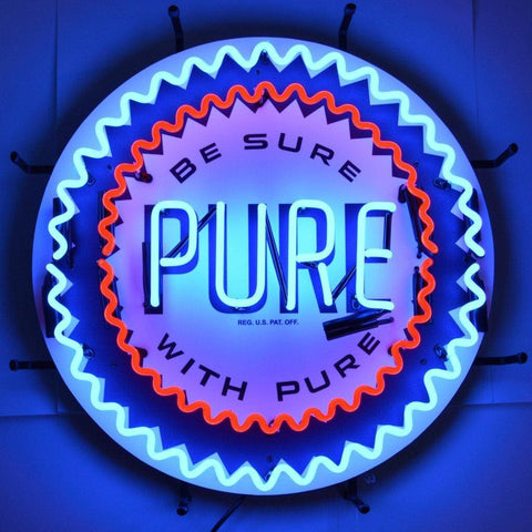 Neonetics Gas - Pure Gasoline Neon Sign With Backing 5Gspur Neon Signs
