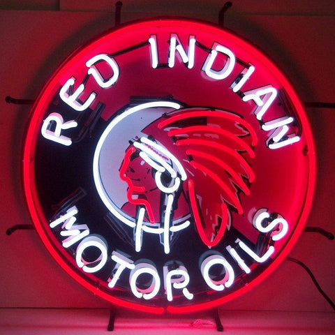 Neonetics Gas - Red Indian Motor Oils Neon Sign 5Gsind Neon Signs