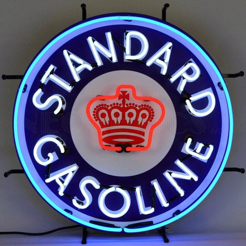 Neonetics Gas - Standard Gasoline Neon Sign With Backing 5Stand Neon Signs