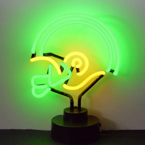 Neonetics Green And Yellow Football Helmet Neon Sculpture 4Gyhel Neon Signs