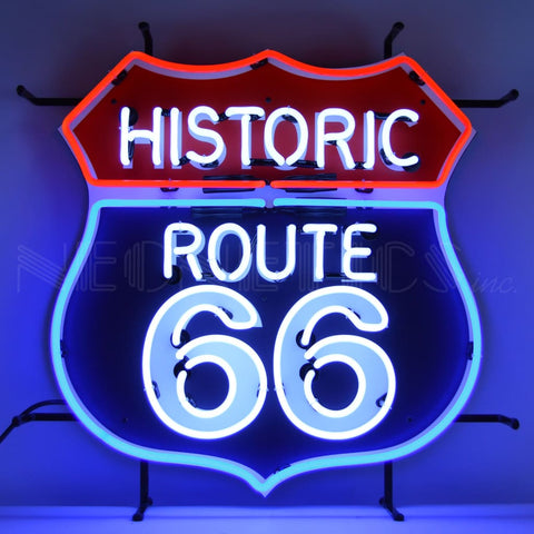 Neonetics Historic Route 66 Neon Sign With Backing 5Rt66B Neon Signs