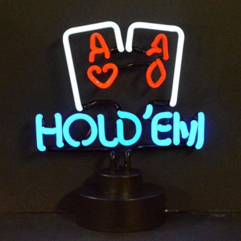Neonetics Hold Em Poker Neon Sculpture 4Holdx Neon Signs