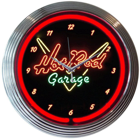 Neonetics Hot Rod Garage Neon Clock 8Hotrd Neon Signs