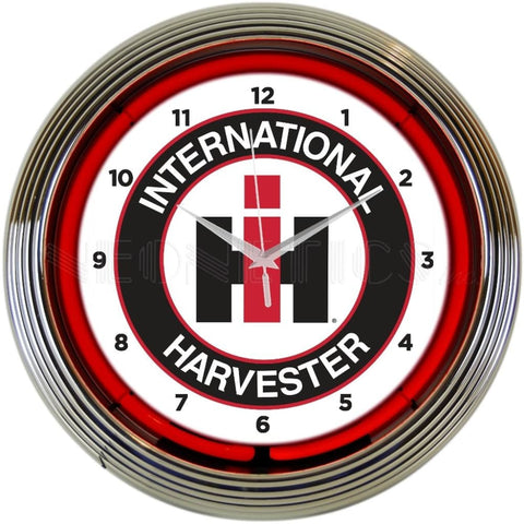 Neonetics International Harvester Neon Clock 8Caseh Neon Signs