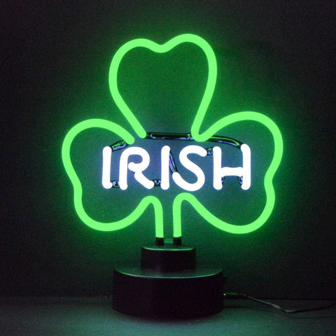 Neonetics Irish Shamrock Neon Sculpture 4Irish Neon Signs