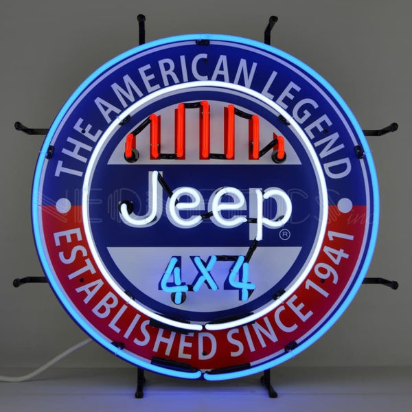 Neonetics Jeep 4X4 The American Legend Neon Sign 5Jeepa Neon Signs