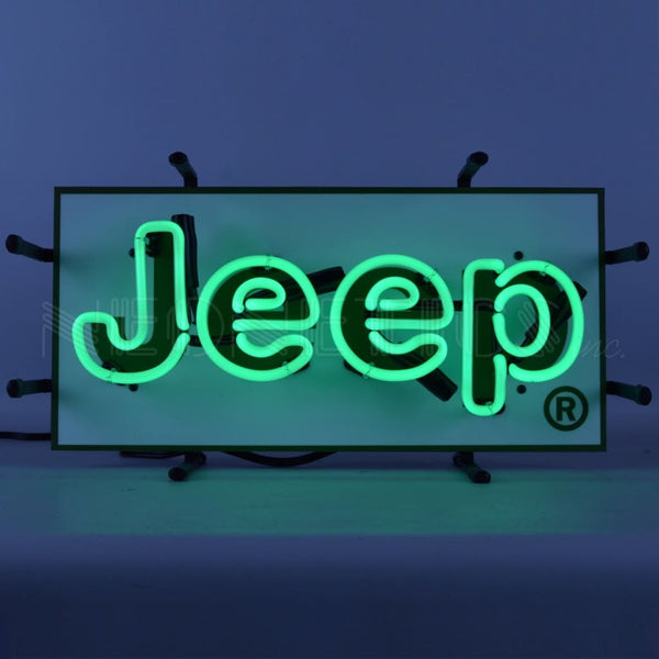 Neonetics Jeep Green Junior Neon Sign 5Jeeps Neon Signs