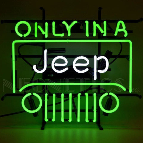 Neonetics Jeep - Only In A Jeep Neon Sign 5Jeepx Neon Signs
