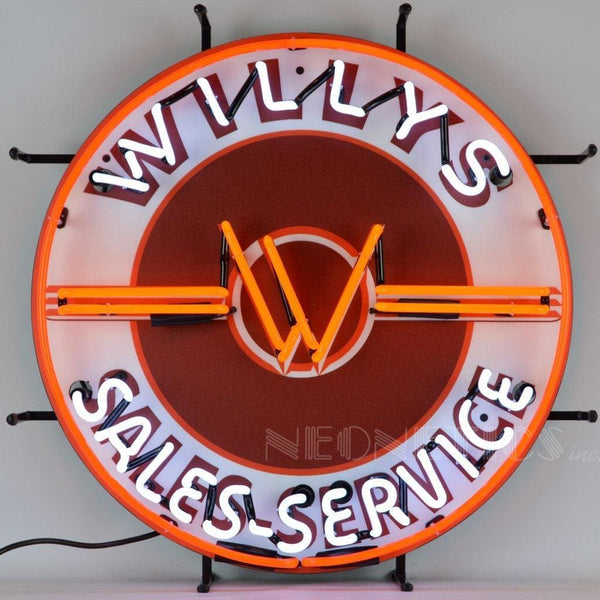 Neonetics Jeep Willys Sales Service Neon Sign 5Jeepw Neon Signs