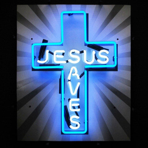 Neonetics Jesus Saves Neon Sign 5Jsaves Neon Signs