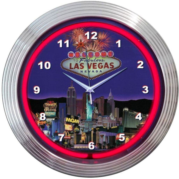 Neonetics Las Vegas Strip Neon Clock 8Vegas Neon Signs