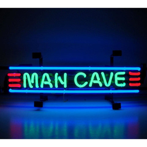 Neonetics Man Cave Red Green And Blue Neon Sign 5Mancs Neon Signs