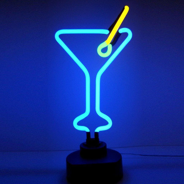 Neonetics Martini Glass Neon Sculpture 4Martx Neon Signs