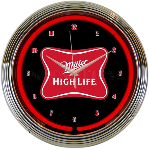 Neonetics Miller High Life Beer Neon Clock 8Mcmhl Neon Signs