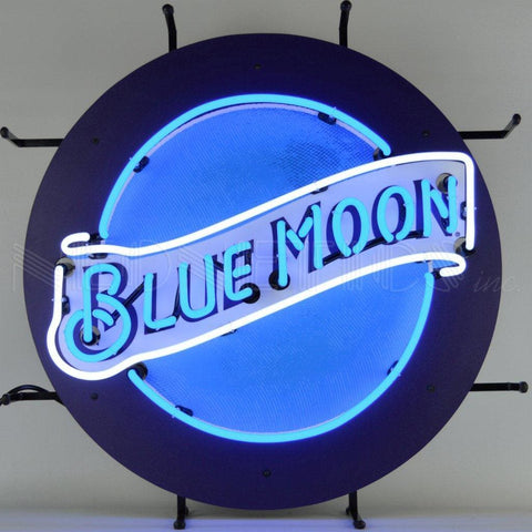 Neonetics Millercoors - Blue Moon Beer Neon Sign 5Mcblm Neon Signs