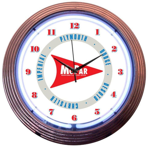 Neonetics Mopar Arrow Neon Clock 8Mparw Neon Signs