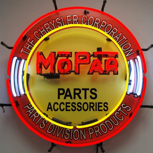 Neonetics Mopar Circle Neon Sign 5Mprcr Neon Signs
