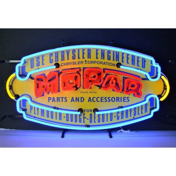 Neonetics Mopar Vintage Shield Neon Sign 5Mprvs Neon Signs