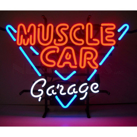Neonetics Muscle Car Garage Neon Sign 5Mscle Neon Signs
