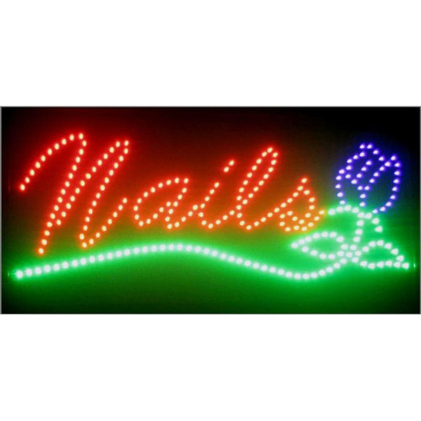 Neonetics Nails Led Sign 5Nails Neon Signs