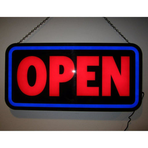 Neonetics Open Bold Rectangle Led Sign 5Openb Neon Signs