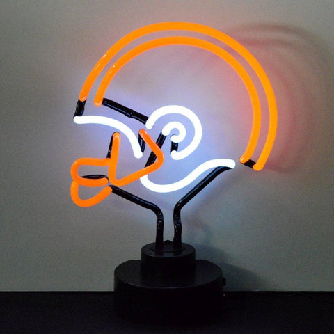 Neonetics Orange And White Football Helmet Neon Sculpture 4Owhel Neon Signs