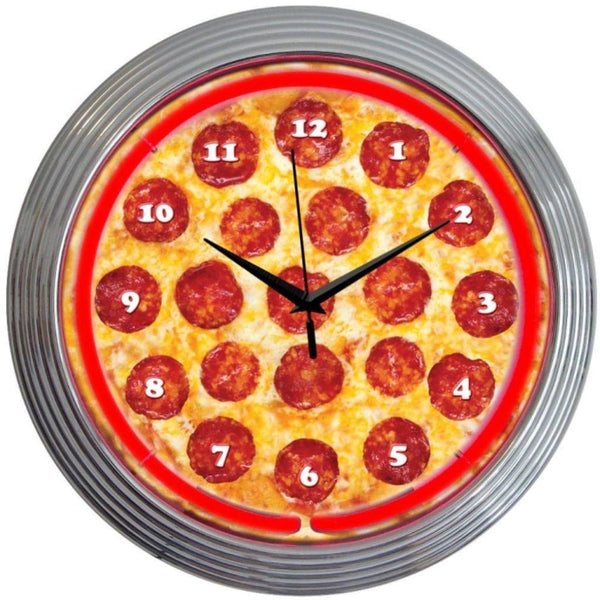 Neonetics Pizza Neon Clock 8Pizza Neon Signs