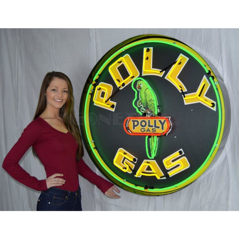 Neonetics Polly Gasoline 36 Inch Neon Sign In Metal Can 9Gsply Neon Signs