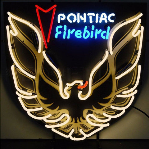 Neonetics Pontiac Firebird Gold Neon Sign With Backing 5Fbrdb Neon Signs