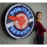 Neonetics Pontiac Service 36 Inch Neon Sign In Metal Can 9Ponbk Neon Signs