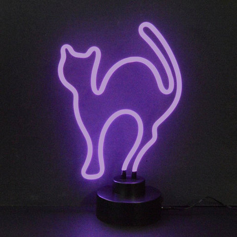 Neonetics Purple Cat Neon Sculpture 4Catmm Neon Signs