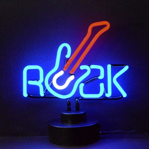 Neonetics Rock With Guitar Neon Sculpture 4Rockx Neon Signs