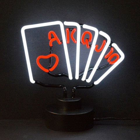 Neonetics Royal Flush Poker Neon Sculpture 4Poker Neon Signs