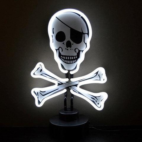 Neonetics Skull And Crossbones Neon Sculpture 4Skullx Neon Signs
