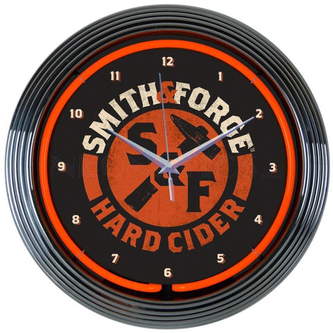 Neonetics Smith And Forge Hard Cider Neon Clock 8Mcsmf Neon Signs