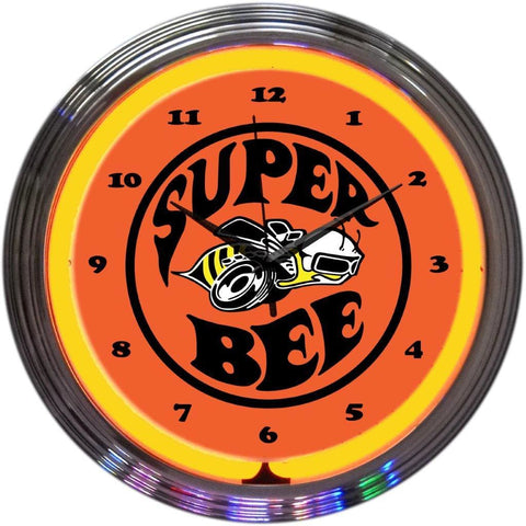Neonetics Super Bee Neon Clock 8Super Neon Signs
