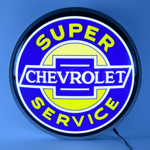 Neonetics Super Chevrolet Service 15 Inch Backlit Led Lighted Sign 7Chevs Neon Signs