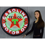 Neonetics Texaco Motor Oil 36 Inch Neon Sign In Metal Can 9Txoil Neon Signs